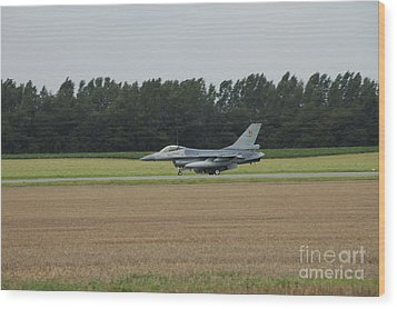 F-16 Of The Belgian Air Force Ready Wood Print by Luc De Jaeger