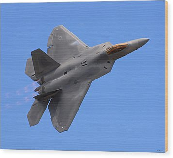 F-22 03 Wood Print by Jeff Stallard