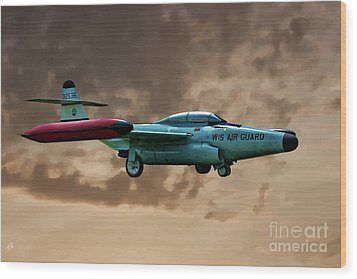 F-89 Scorpion Wood Print by Tommy Anderson