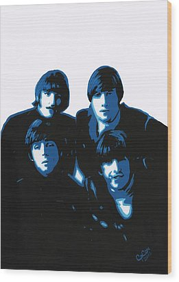 Fab Four Wood Print by Chris Cox