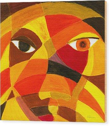 Face 45 Wood Print by Hakon Soreide