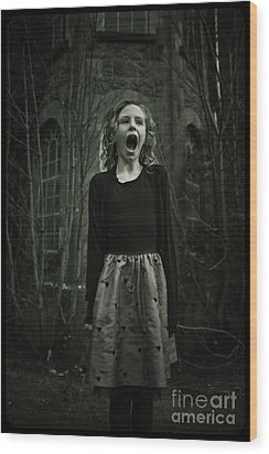Face Wood Print by MrsRedhead Olga