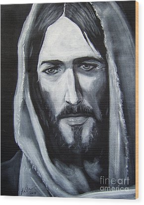 Face Of Christ - One Wood Print