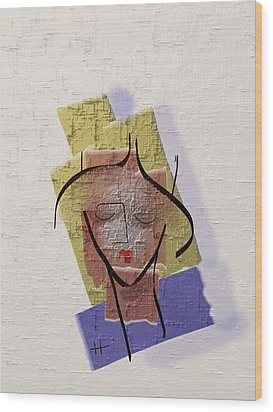 Face Of My Body Wood Print by Hayrettin Karaerkek