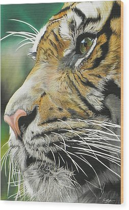 Face Of The Hunter Wood Print by Paul Miners
