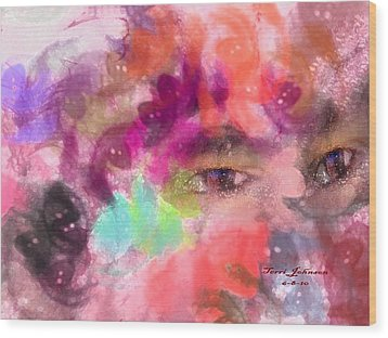 Face Wood Print by Terri Johnson