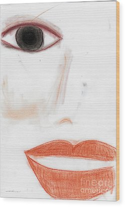 Wood Print featuring the photograph Face by Vicki Ferrari