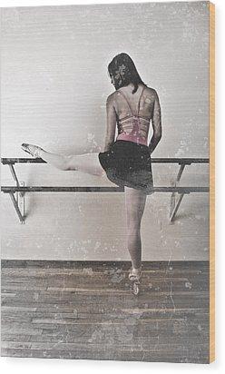 Faded Ballerina Wood Print by Scott Sawyer