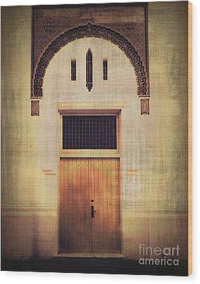 Faded Doorway Wood Print by Perry Webster