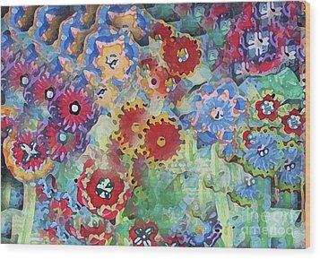 Fading Flower Power Wood Print by Marilyn West