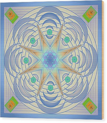 Wood Print featuring the digital art Fading Geometrics by Mario Carini
