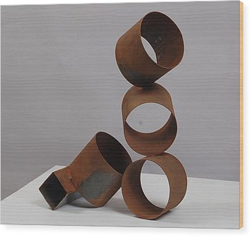 Faint Rhythm Wood Print by Mac Worthington