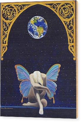 Fairies Lament Wood Print by Cari Von Sternberg