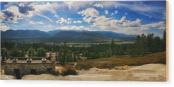 Fairmont Hot Springs Bc Wood Print by JM Photography