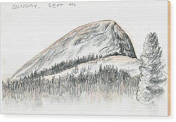 Fairview Dome Wood Print by Logan Parsons