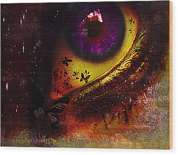 Fairy Eye Wood Print by Yvon van der Wijk