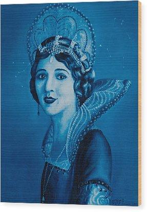 Fairy Godmother Wood Print by Eliza Furmansky