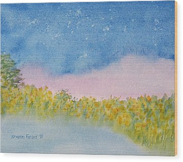 Fairy Mist Wood Print by Sharon Farber