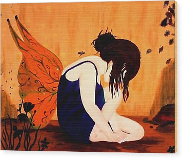 Fairy  Wood Print by Nicole Champion