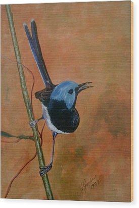 Fairy Wren Wood Print