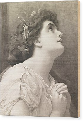 Faith Wood Print by Frederic Leighton