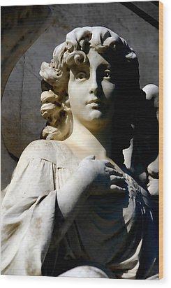 Faithful Wood Print by Phil Bongiorno