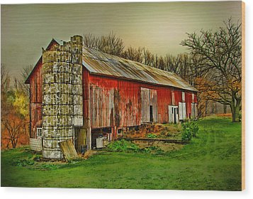 Wood Print featuring the photograph Fall Barn by Mary Timman