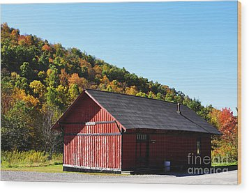 Fall Color Pickens West Virginia Wood Print by Thomas R Fletcher