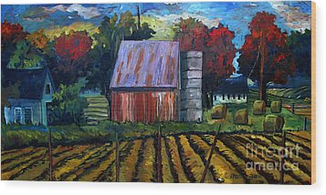 Fall Festival Re-photographed Wood Print by Charlie Spear