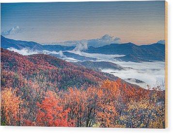 Fall Fog 1 Wood Print
