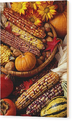 Fall Harvest Wood Print by Garry Gay