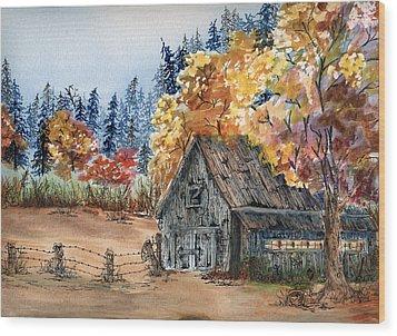 Fall Hide And Seek Wood Print