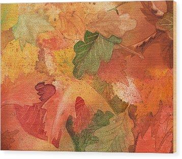 Fall Impressions II Wood Print by Irina Sztukowski