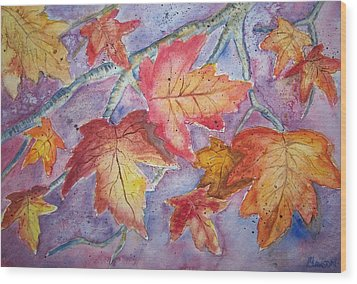 Fall In Arkansas Wood Print by Belinda Lawson