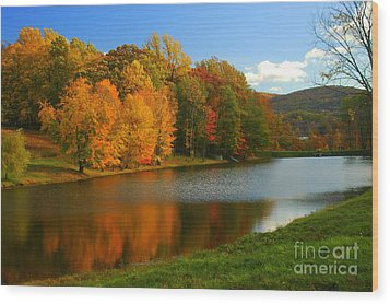 Fall In New York State Wood Print by Mark Gilman