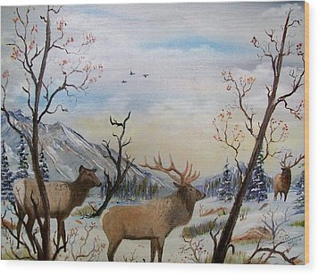 Fall In The Beartooth Mountains Wood Print by Al  Johannessen