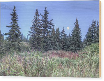 Fall Moon Wood Print by Michele Cornelius