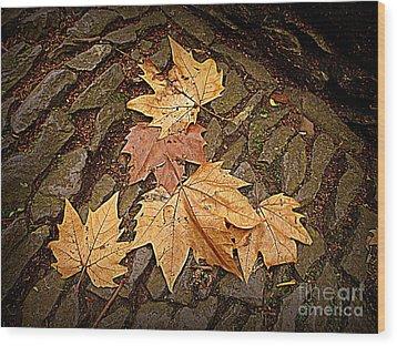 Fall Pattern Wood Print