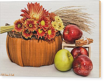 Fall Pleasures Wood Print by Susan Smith