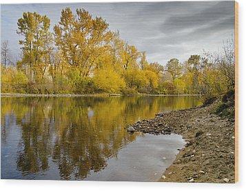 Fall River 1 Wood Print