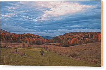 Fall Scenery In The Canadian Countryside Wood Print by Chantal PhotoPix