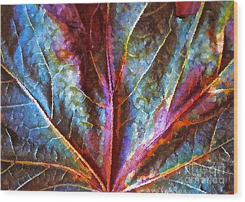 Fall Up Close Wood Print by Gwyn Newcombe