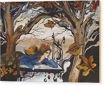 Fall Wood Print by Valentina Plishchina