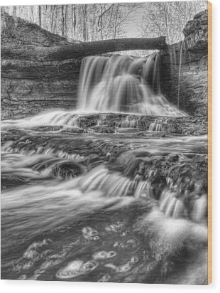 Wood Print featuring the photograph Fallen Bridge by Coby Cooper