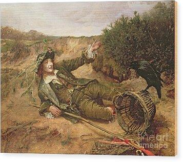 Fallen By The Wayside Wood Print by Edgar Bundy