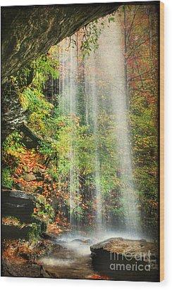 Falling Softly Wood Print by Darren Fisher