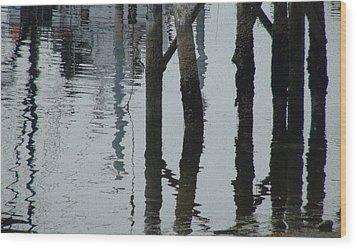 Falling Tide Wood Print