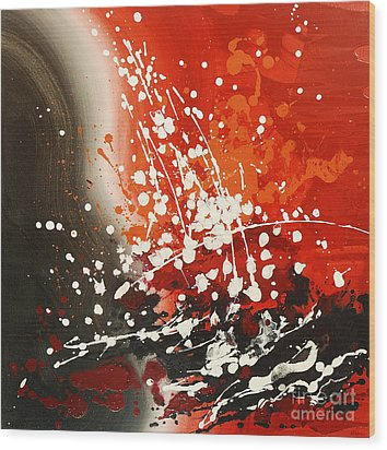Wood Print featuring the painting Falling Water by Tatiana Iliina