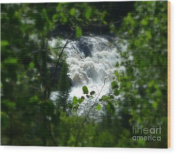 Falls In Forest Frame Wood Print by Art Studio
