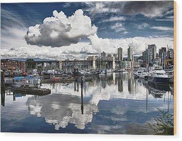 False Creek Vancouver Wood Print